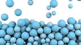 Bolas que llenan un contexto de la caja stock de ilustración