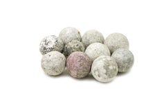 Bolas redondas del caolín Imagen de archivo