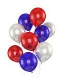Bolas rojas, blancas, azules Imagen de archivo