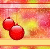 Bolas rojas de la Navidad Foto de archivo