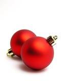 Bolas rojas de la Navidad Imagen de archivo libre de regalías