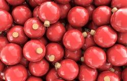 Bolas rojas de la Navidad Fotos de archivo libres de regalías