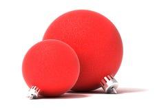 Bolas rojas del árbol de navidad Imagen de archivo libre de regalías