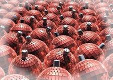 Bolas rojas del espejo de la Navidad Foto de archivo libre de regalías