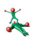 Bolas rojas men-2 Imagen de archivo libre de regalías