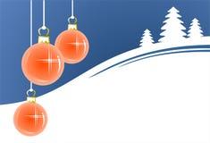 Bolas rosadas de la Navidad ilustración del vector