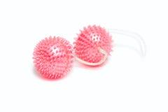 Bolas rosadas del amor del juguete del sexo Fotografía de archivo libre de regalías