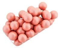 Bolas rosadas del colorete de los cosméticos Fotografía de archivo libre de regalías