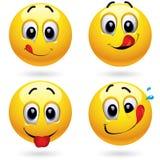 Bolas sonrientes Imágenes de archivo libres de regalías