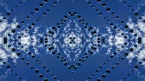 Bolas suspendidas bajo efecto de los espejos del cielo libre illustration