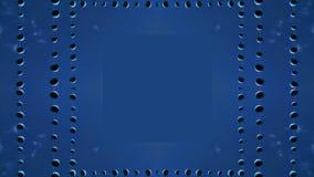 Bolas suspendidas bajo efecto de los espejos del cielo ilustración del vector