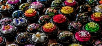 Bolas talladas de la flor del jabón - Tailandia Foto de archivo libre de regalías