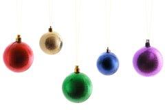 Bolas Varicolored, juguetes de la Navidad Imágenes de archivo libres de regalías