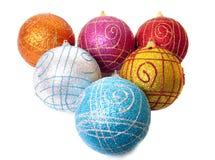Bolas Varicoloured de la Navidad Fotos de archivo
