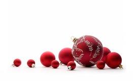 Bolas vermelhas do Natal Foto de Stock