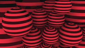 Bolas vermelhas e pretas rendição 3d Imagem de Stock
