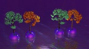 Bolas y árboles ilustración del vector