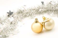 Bolas y adorno de la Navidad Imagen de archivo libre de regalías