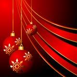 Bolas y cintas de la Navidad Imágenes de archivo libres de regalías
