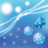 Bolas y copos de nieve Foto de archivo libre de regalías