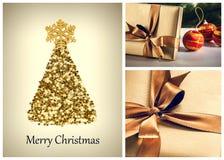 Bolas y decoraciones de la Navidad Imagen de archivo libre de regalías