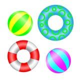 Bolas y salvavidas inflables de la natación libre illustration