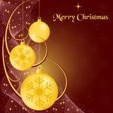 Bolas y swooshes de Navidad Imagenes de archivo