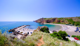 Bolata beach Bulgaria. Famous bay near Cape Kaliakra Royalty Free Stock Images