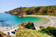 Bolata beach Bulgaria. Famous bay near Cape Kaliakra Stock Photography