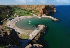 Bolata plaża, Czarny morze, Bułgaria fotografia stock