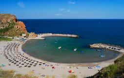 Bolata plaża, Czarny morze, Bułgaria Zdjęcia Stock