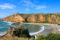 Bolata strand, nära udde Kaliakra, Bulgarien Royaltyfri Foto