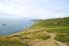 Bolberry down, South Devon coastal footpath ,Uk Royalty Free Stock Images