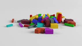 Bolcks variopinti del giocattolo Fotografie Stock Libere da Diritti