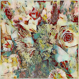 Bold abstract floral painted bouquet design stock image