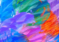 Bold abstract paint stroke design Royalty Free Stock Photos