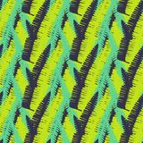 Bold abstract tropical jungle print. Vector seamless floral bright green pattern inspired by tropical nature and plants with shapes of fern leaves and trees Stock Photo