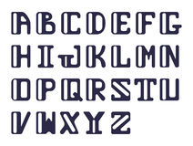 Bold alphabet of capital Latin letters sans serif. Vector set of letters for design. Stock Images