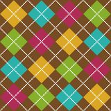 Bold Argyle Pattern. Bold Argyle background pattern in fall colors Stock Photo