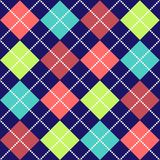 Bold Argyle Pattern. Bold Argyle background pattern in bright colors Stock Photos