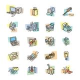 Bold Business and Web Icons Stock Images