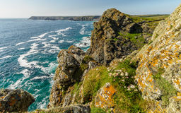 Bold cliffs along the coast of Cornwall, United Kingdom Stock Image