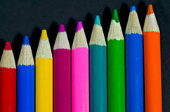 Bold colored pencils Royalty Free Stock Photo