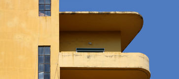 Bold colour in 70's style building. Details from 70's style building in Beirut (Lebanon Stock Images