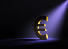 Bold Euro In Spotlight Stock Photo