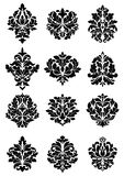Bold floral arabesque motifs Royalty Free Stock Photo