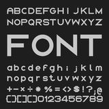 Bold Font Desgin, Alphabet and Numbers Vector Royalty Free Stock Images