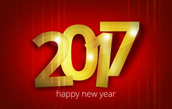 2017 bold font happy new year design. Graphic illustration design Stock Image