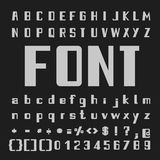 Bold Font Vector,Type letters and numbers Royalty Free Stock Images