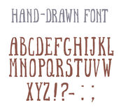 Bold font in the western style. Bold hand-drawm font in the western style Stock Image